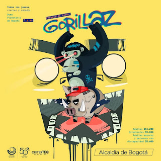 GORILLAZ ¡Nuevo Show Laser en el Planetario de Bogota!