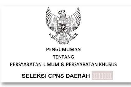 Persaratan Pendaftaran CPNS tahun 2019