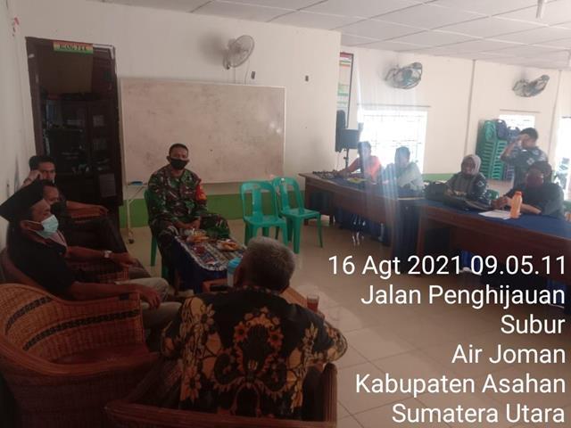 Rapat Koordinasi Dengan Aparatur Desa Diwilayah Binaan Dihadiri Personel Jajaran Kodim 0208/Asahan