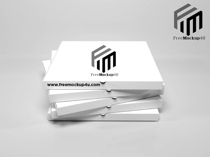 Pizza Box PSD Mockups Free Download