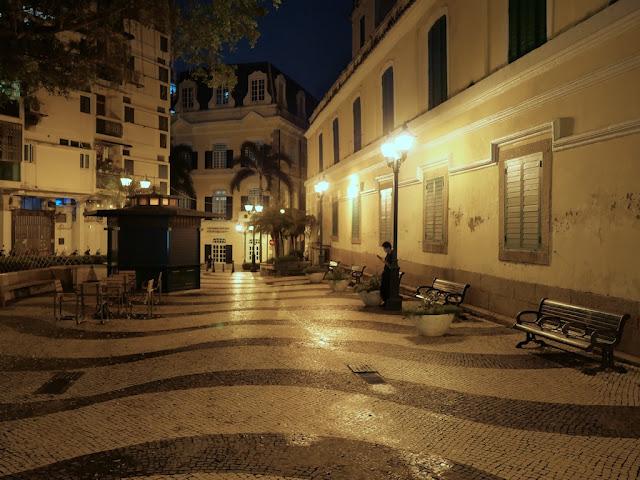 Saint Augustine's Square in Macau at Night