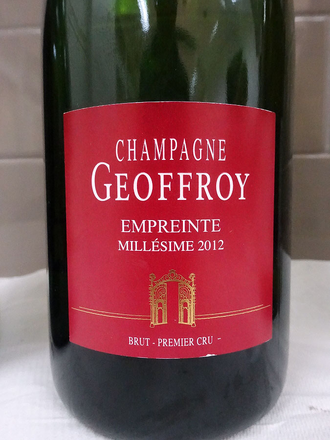 René Geoffroy Empreinte Brut 1er Cru Champagne 2012 (91 pts)