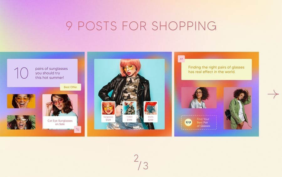 Fashion Instagram Posts (PSD) - Ngcloudy.com
