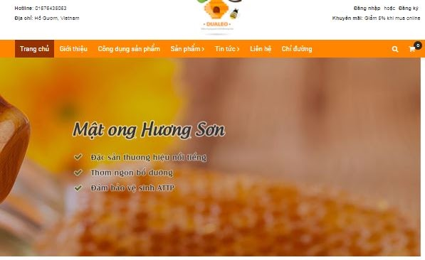 Landing page blog bán hàng