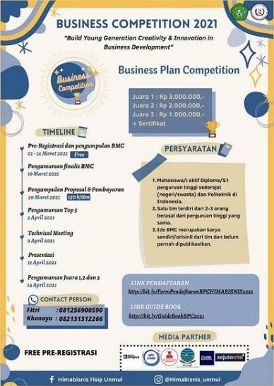 Business Competition 2021  Universitas Mulawarman