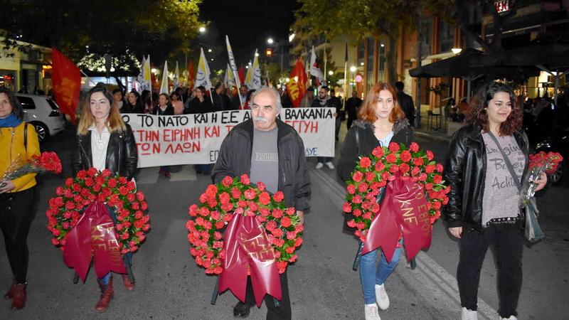 Συγκέντρωση και πορεία στην Αλεξανδρούπολη για την 46η επέτειο του Πολυτεχνείου