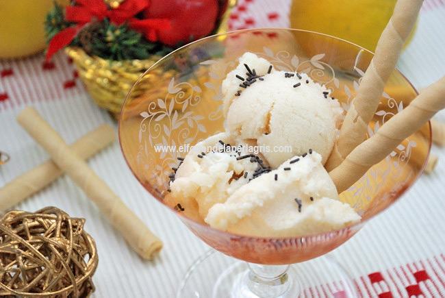 helado navideño de mantecado de limón