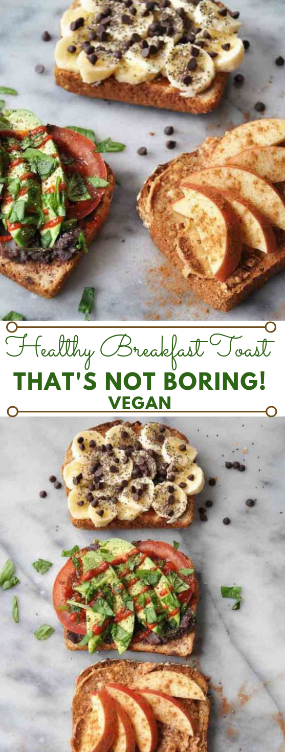SIMPLE HEALTHY VEGAN BREAKFAST TOAST THAT ISN'T BORING #vegan #vegetarian #healthyrecipes #breakfast #yummy