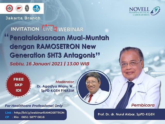 """Gratis SKP IDI Webinar  """"Penatalaksanaan Mual-Muntah dengan RAMOSETRON New Generation 5HT3 Antagonis """""""