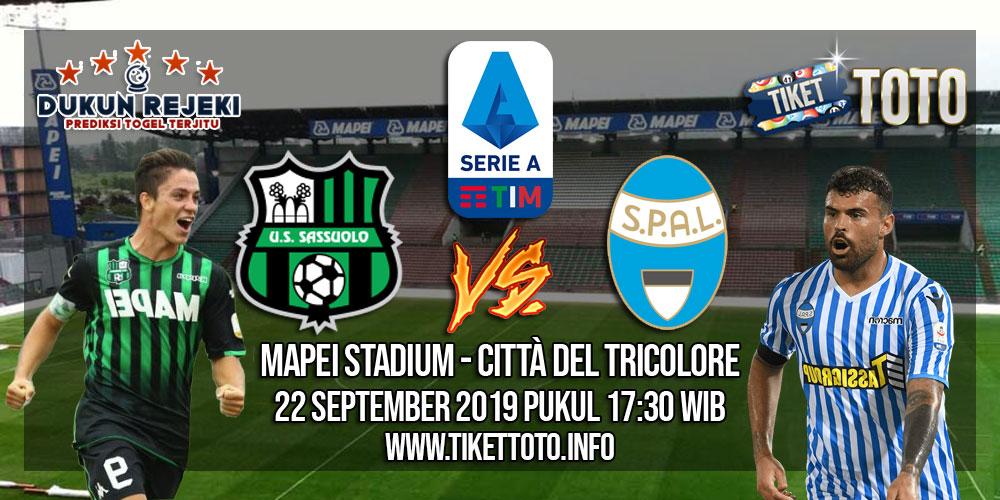 Prediksi Sassuolo VS SPAL 22 September 2019