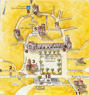 Tourrettes sur loup, plan, Nice, ballade, médiéval, pierre, fontaine, grand mère