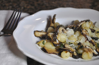 Gnocchi with Shiitake Green Garlic Sauce