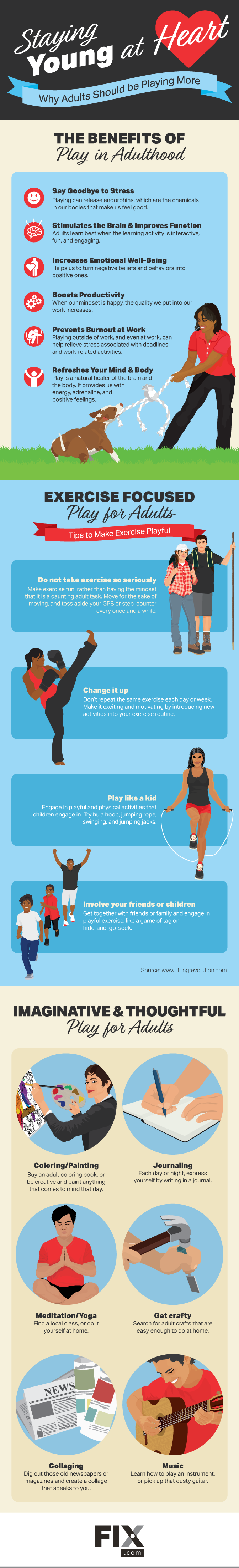 Staying Young at Heart: Why Adults Should be Playing More #infographic