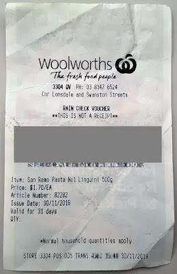 Woolworth Rain Check.. (シワシワ・・