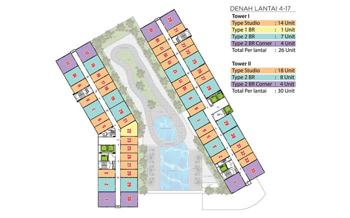 Floor Plan 4 - 17th Floor