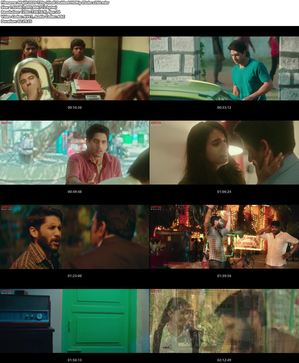 Majili 2020 720p Hindi Dubbed HDRip ESubs x264 | 480p 300MB | 100MB HEVC Screenshot