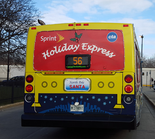 Uptown Update The Cta S Holiday Bus Travels Clark This
