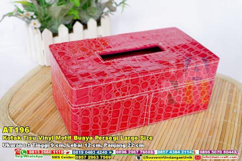 Kotak Tisu Vinyl Motif Buaya Persegi Large Size