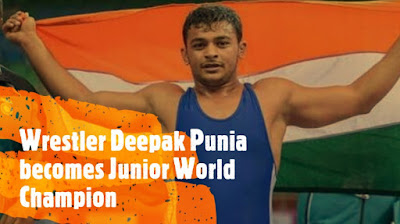 Wrestler Deepak Punia becomes Junior World Champion
