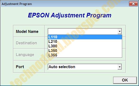 Cara Reset Printer Epson L110, L210, L300, L350 dan L355