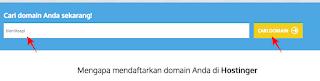 pencarian domain di idhostinger