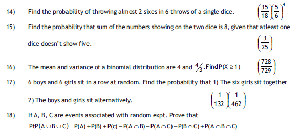 Probability HOT Questions ~ SCC Education