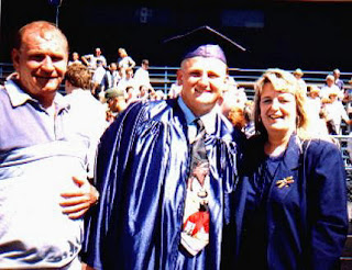 Tod, Lance, and Paula Eaton at Lance's 1997 graduation.