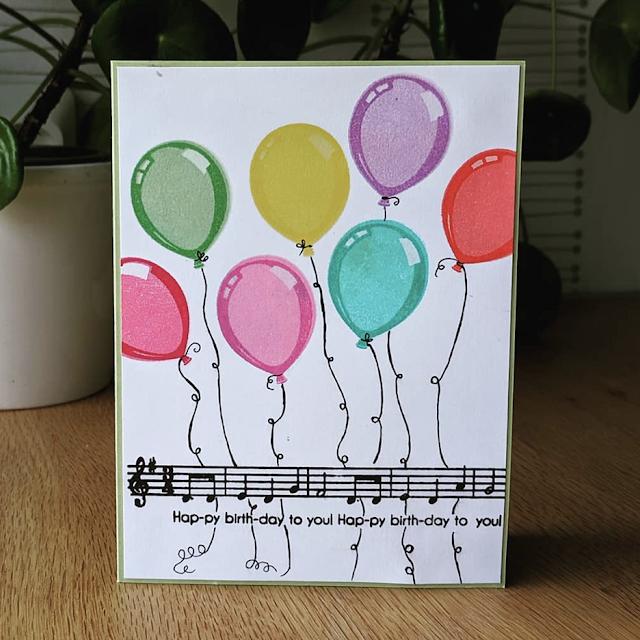 Sunny Studio Stamps: Birthday Balloon Customer Card by Jessica