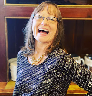 Faye Maurin enjoys a candid shot at a local restaurant in New Orleans on New Years Day