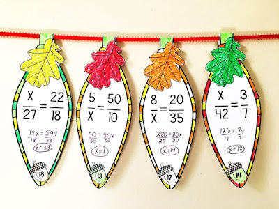 Solving Proportions Thanksgiving Math Pennants