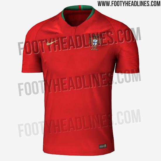 f9d04654c4cb6 Primeras imágenes de la camiseta de Portugal para Rusia 2018