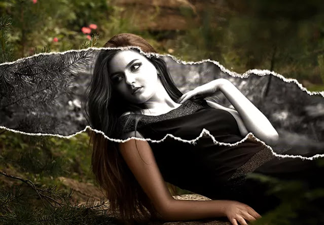 Torn Paper Photo Effect (Mockup PSD)
