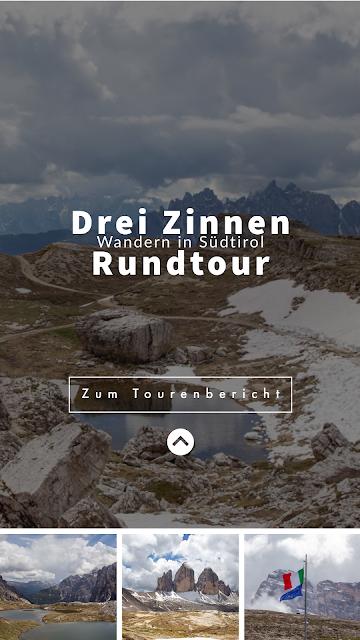Rundtour Drei Zinnen - Dreizinnenhütte  Wanderung Sextner Dolomiten  Wandern Südtirol  Tourenbericht Tre Cime di Lavaredo  GPS-Track 31