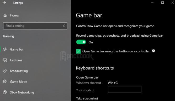aktifkan menu Game Bar