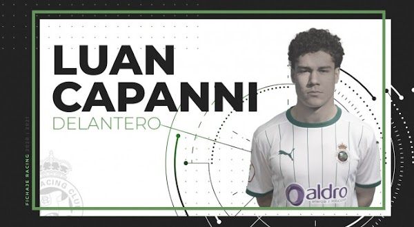Oficial: Racing de Santander, llega cedido Luan Capanni