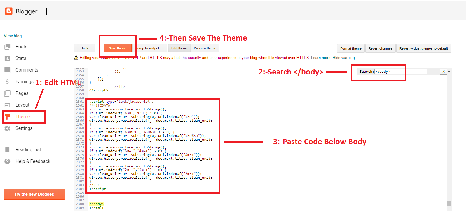 Steps to remove ?m=1 from blogger URL