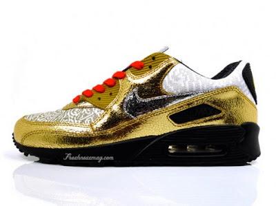 986663ddf41c Gold Splatter Air Max Jordan Retro 4 Youth