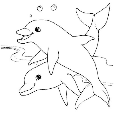 Animal Coloring Pages Dolphin Free Coloring Sheet For Kids
