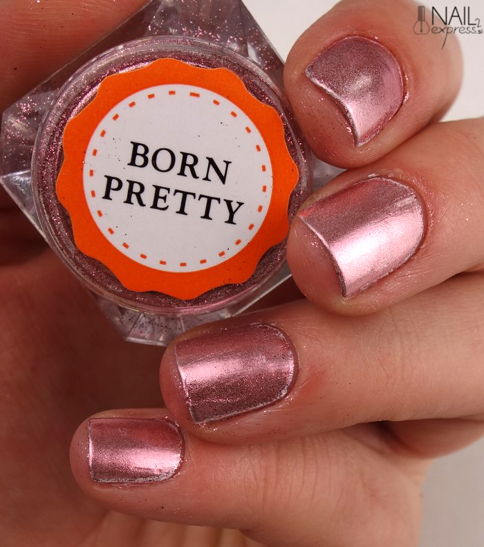 Born pretty store_rose gold mirror nail powder_swatch