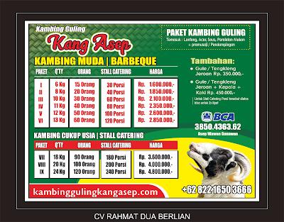 harga Kambing Guling di Lembang bulan Juli 2019