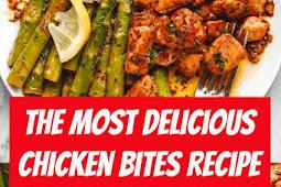 The Most Delicious Chicken Bites Recipe #chicken #chickenbites #dinner #asparagus #dinnerideas