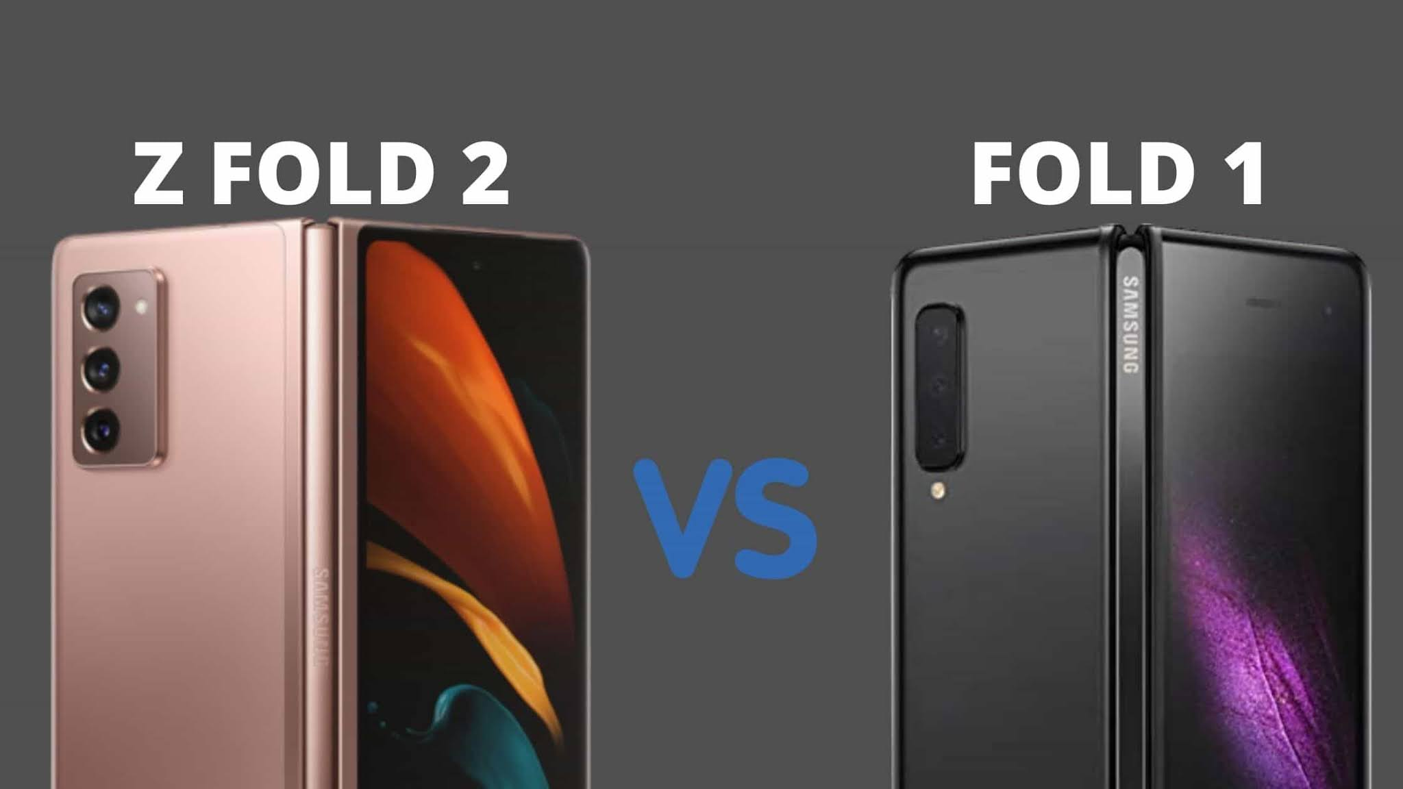 Comparing Galaxy Fold 1 and Galaxy Z Fold 2