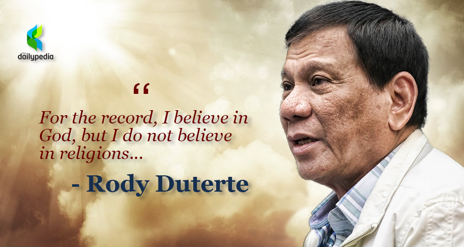 president duterte, stupid god