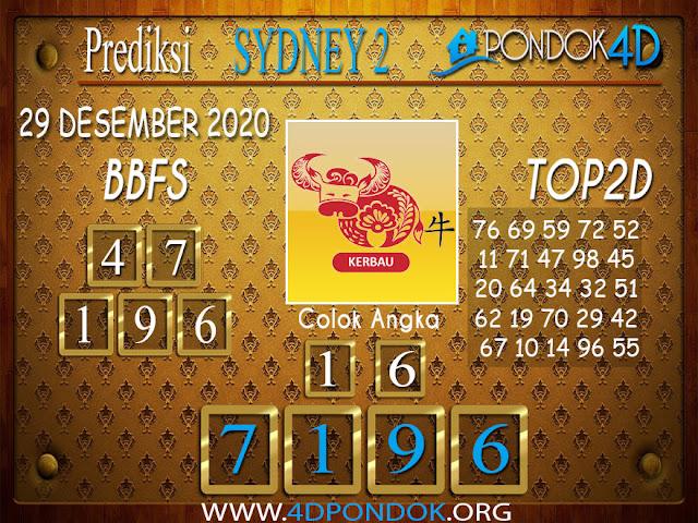 Prediksi Togel SYDNEY2 PONDOK4D 29 DESEMBER 2020