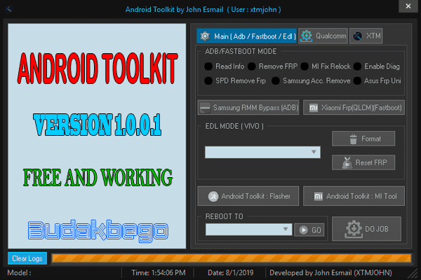Android Toolkit Version 1.0.0.1 By John Esmail Free and Working