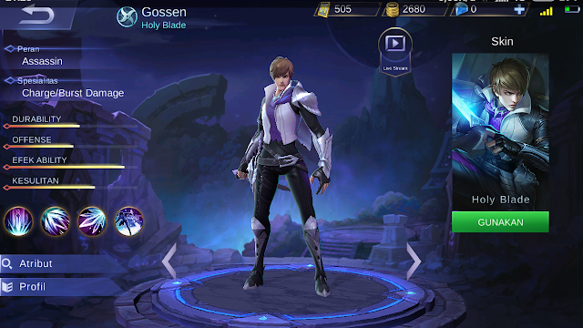1. New Hero Gossen - Assassin