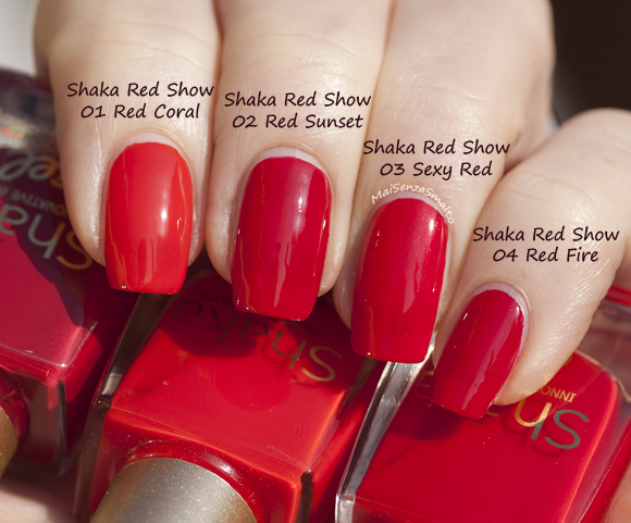 Shaka Red Show Gel look 01-02-03-04