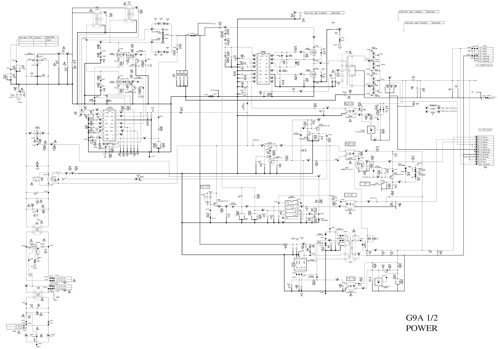 Sony G9a G9b And G10 Lcd Tv Power Supply Schematic