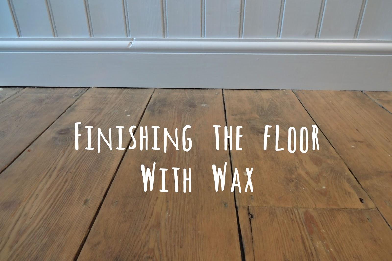 Finishing The Bathroom Floor With Floor Wax Kezzabeth