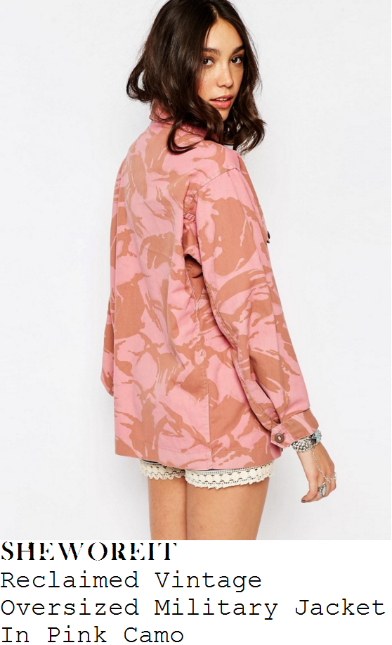 lauren-pope-reclaimed-vintage-pink-camouflage-oversized-military-jacket